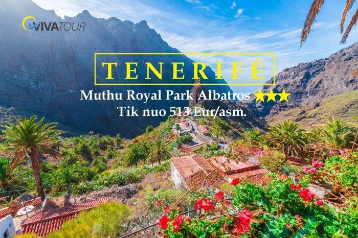 TENERIFĖ 🥰7 n. Muthu Royal Park Albatros⭐⭐⭐viešbutyje su#pusryčiaistik nuo513Eur/asm.🌴